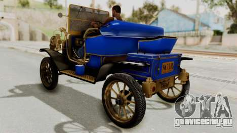 Ford T 1912 Open Roadster v2 для GTA San Andreas вид сзади слева
