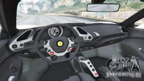 Ferrari 488 GTS для GTA 5 вид сзади справа