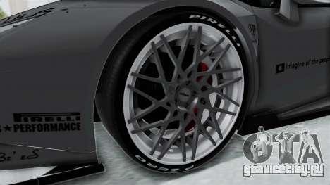 Lamborghini Huracan LP610-4 2015 Liberty Walk LB для GTA San Andreas вид сзади
