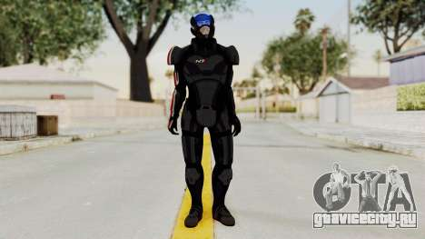 ME2 Shepard Default N7 Armor with Capacitor Helm для GTA San Andreas второй скриншот