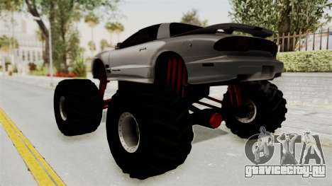 Pontiac Firebird Trans Am 2002 Monster Truck для GTA San Andreas вид слева