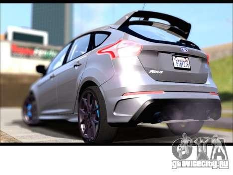 Форд Фокус РС 2017 для GTA San Andreas вид слева
