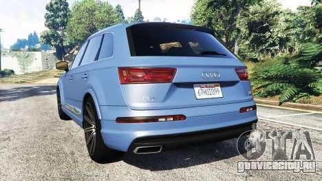 Audi Q7 2015 [rims1] для GTA 5 вид сзади слева