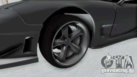 Mazda RX-7 FD3S HellaFlush для GTA San Andreas вид сзади