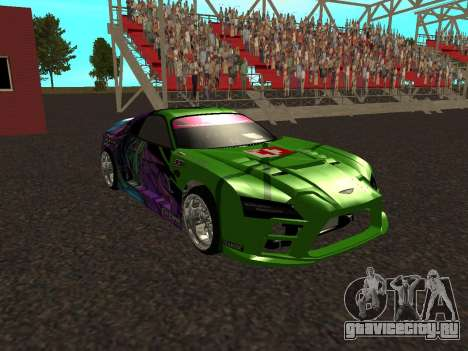 Toyota Supra Evil Empire для GTA San Andreas вид изнутри