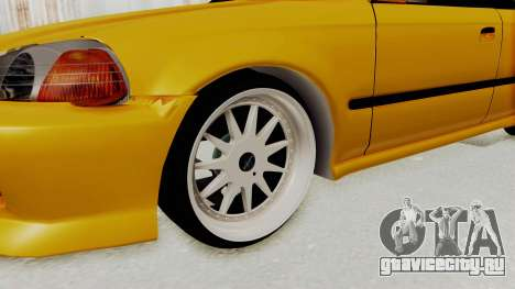 Honda Civic Vermidon для GTA San Andreas вид сзади