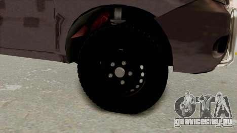 Toyota Hilux 2014 Army Libyan для GTA San Andreas вид сзади