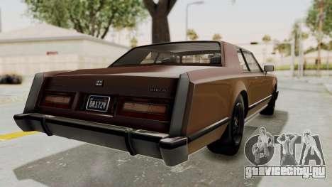 GTA 5 Dundreary Virgo Classic для GTA San Andreas вид справа