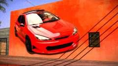Peugeot 206 Wall Grafiti