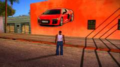 Audi R8 Wall Grafiti