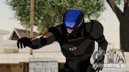 ME2 Shepard Default N7 Armor with Capacitor Helm для GTA San Andreas