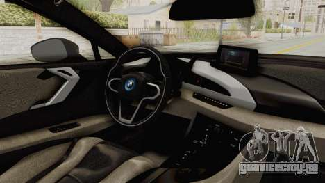 BMW i8-VS 2015 для GTA San Andreas вид изнутри