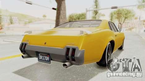 GTA 5 Declasse Sabre GT2 B IVF для GTA San Andreas вид справа