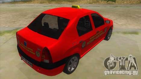 Dacia Logan Scoala для GTA San Andreas вид справа