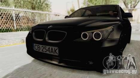 BMW 530D E60 для GTA San Andreas вид сзади слева