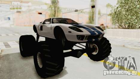 Ford GT 2005 Monster Truck для GTA San Andreas вид справа