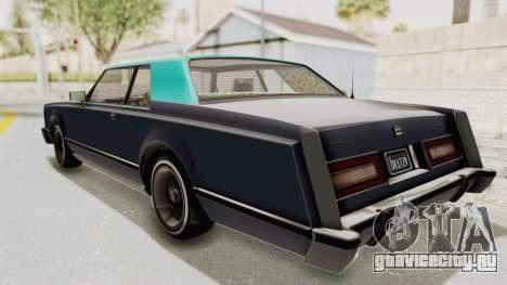 GTA 5 Dundreary Virgo Classic Custom v2 IVF для GTA San Andreas вид сзади слева