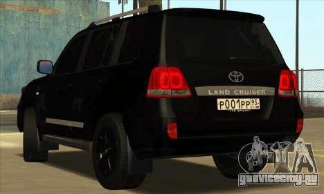 Toyota Land-Cruiser 200 для GTA San Andreas вид сзади слева