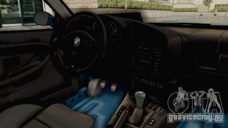 BMW 325i E36 для GTA San Andreas вид изнутри
