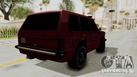 Huntley LR для GTA San Andreas вид сзади слева