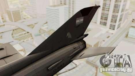 MIG-21 BIS Fuerza Aérea Argentina для GTA San Andreas вид сзади слева