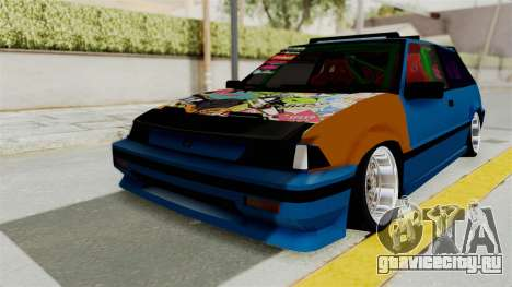 Honda Civic EF9 HellaFlush для GTA San Andreas