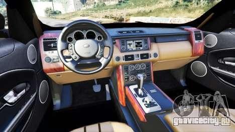 Range Rover Evoque v5.0 для GTA 5 вид сзади справа