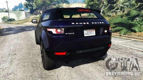 Range Rover Evoque v5.0 для GTA 5 вид сзади слева