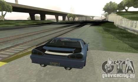 Стандартная Elegy с выдвижным спойлером для GTA San Andreas вид справа