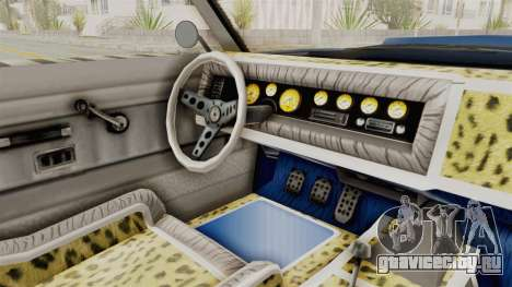 GTA 5 Declasse Sabre GT2 A для GTA San Andreas вид изнутри