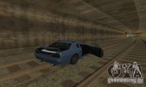 Стандартная Elegy с выдвижным спойлером для GTA San Andreas вид сверху