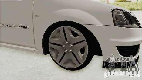 Dacia Logan 2013 для GTA San Andreas вид сзади