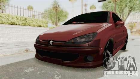 Peugeot 206 Full для GTA San Andreas