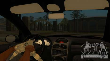 Peugeot 206 MO Edit для GTA San Andreas вид изнутри