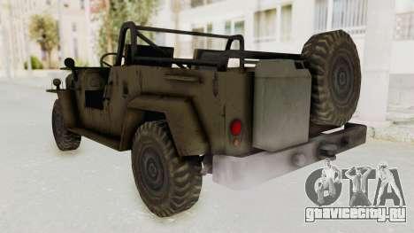 MGSV Jeep No LMG для GTA San Andreas вид сзади слева