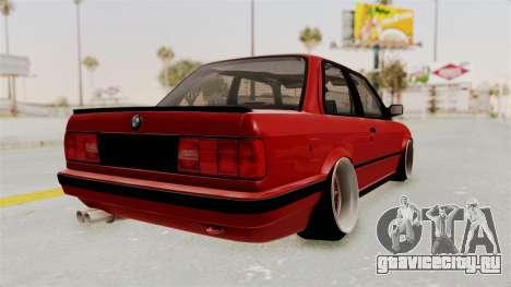BMW M3 E30 Camber Low для GTA San Andreas вид справа