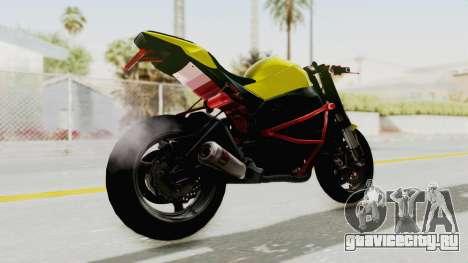 Kawasaki Ninja ZX-10R Nakedbike Stunter для GTA San Andreas вид слева