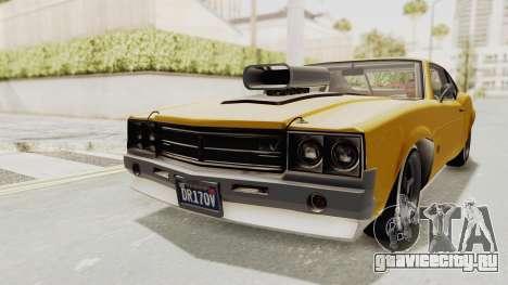 GTA 5 Declasse Sabre GT2 B IVF для GTA San Andreas вид сзади слева