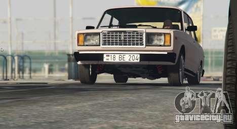 Вооруженные Проповедовать Авто 2107 для GTA 5 вид сзади