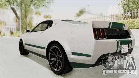 GTA 5 Vapid Dominator v2 SA Style для GTA San Andreas вид слева