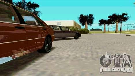 Mercedez-Benz W140 для GTA San Andreas вид слева