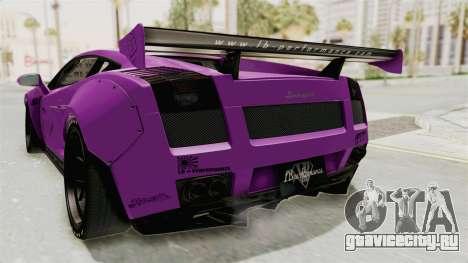 Lamborghini Gallardo 2015 Liberty Walk LB для GTA San Andreas вид снизу