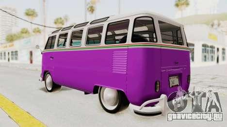 Volkswagen T1 Station Wagon De Luxe Type2 1963 для GTA San Andreas вид слева