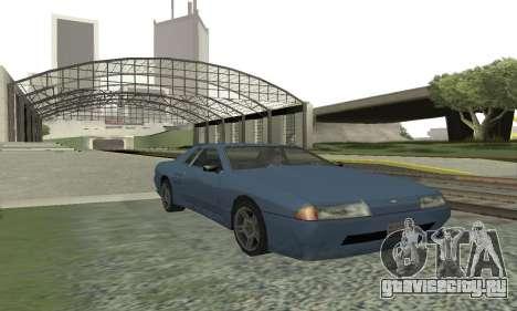 Стандартная Elegy с выдвижным спойлером для GTA San Andreas вид слева