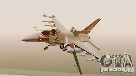 F-16A General Dynamics Chadian Air Force для GTA San Andreas вид сзади слева