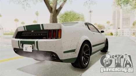 GTA 5 Vapid Dominator v2 SA Style для GTA San Andreas вид сзади слева