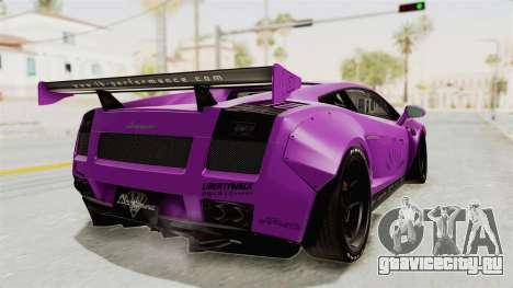 Lamborghini Gallardo 2015 Liberty Walk LB для GTA San Andreas вид слева