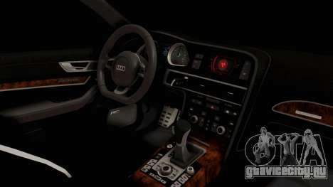 Audi RS6 для GTA San Andreas вид изнутри