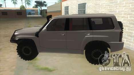 Nissan Patrol Y61 для GTA San Andreas вид слева