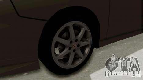 Acura Integra Fast N Furious для GTA San Andreas вид сзади